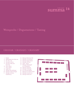 Summa14 Tasting booklet