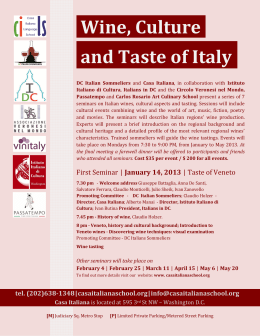 Wine, Culture. and Taste of Italy.