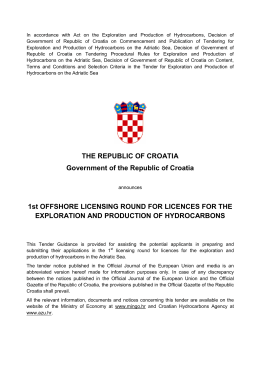 THE REPUBLIC OF CROATIA Government of the Republic of