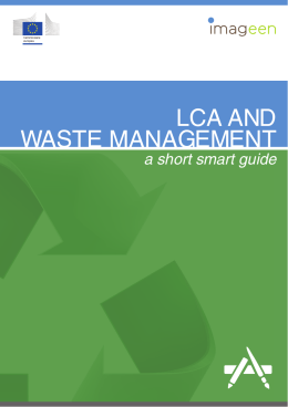 Life cycle assessment e waste management