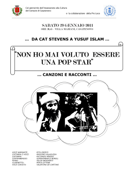 CAT STEVENS ITALIANO 2011 OPUSCOLO 2 COLONNE