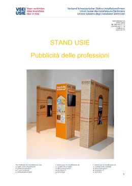 Opuscolo stand USIE