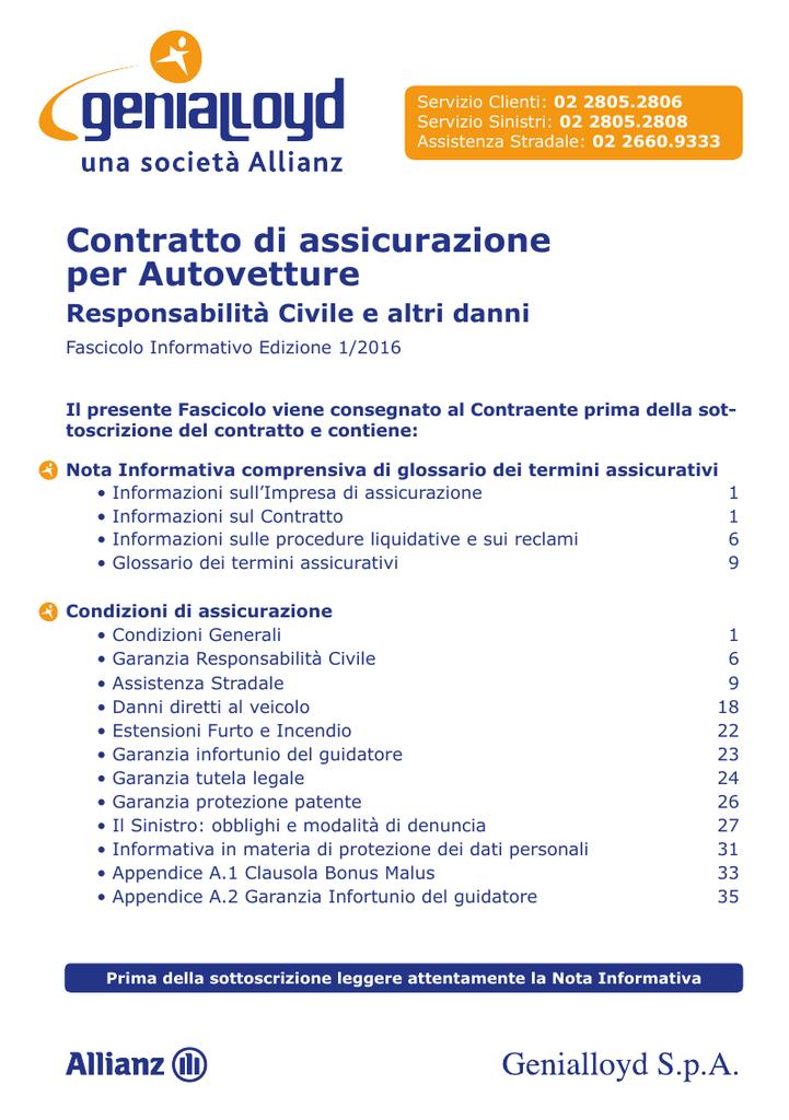 SCARICARE ATTESTATO DI RISCHIO GENIALLOYD