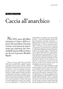 Caccia all`anarchico