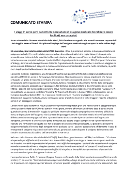 COMUNICATO STAMPA - European Federation of Allergy and