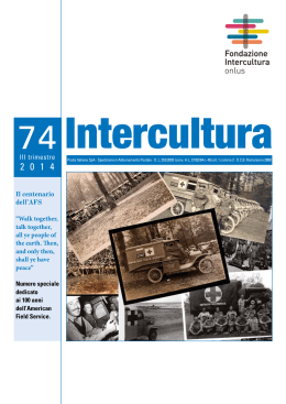 Trimestrale Intercultura N° 74/2014