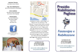 Brochure Presidio PAGES - Presidio Riabilitativo Pegliese