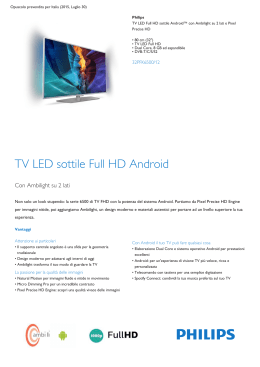 Product Leaflet: TV LED sottile Full HD Android
