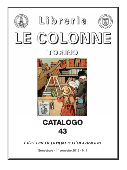 Catalogo 43 - Libreria Antiquaria Le Colonne