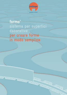 formo opuscolo - profilsager ag