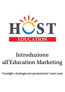 Untitled - Blog italiano sull`education marketing