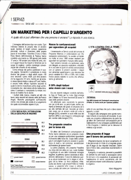 un marketing per i capelli d`argento