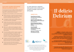 Il delirio - Agency for Clinical Innovation