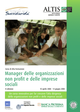 opuscolo ALTIS 15x21 cm Manager delle imprese sociali.indd