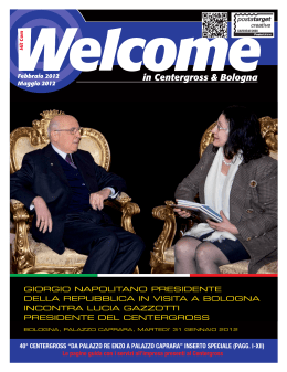 Welcome 15 - Welcome in Centergross & Bologna