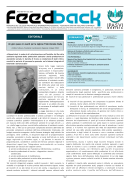Feedback ultimo numero - versione integrale in pdf - IPASVI