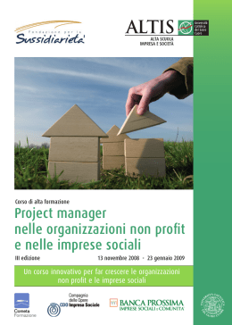 opuscolo ALTIS 15x21 cm Project manager 2008.indd