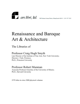 Renaissance and Baroque Art & Architecture