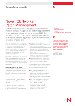 Novell® ZENworks® Patch Management
