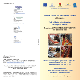 Brochure informativa - Job ed Enterprice Creation per le fasce deboli