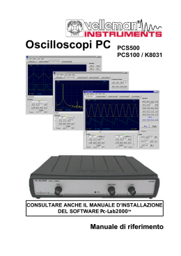 Oscilloscopi PC