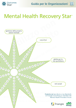 Mental Health Recovery Star