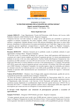 Sintesi dell`evento