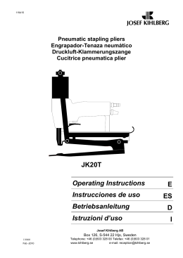 JK20T Operating Instructions E Instrucciones de uso