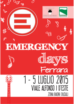 estratto opuscolo_Emergency days