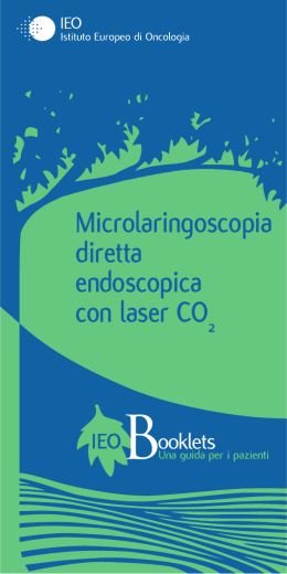 Microlaringoscopia diretta endoscopica con laser CO2