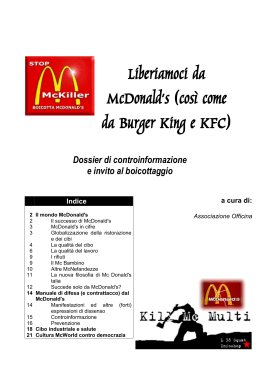PROTESTA FAST FOOD (MC DONALD, BURGER KING, KFC).
