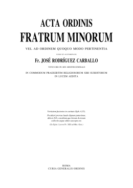 fratrumminorum - Order of Friars Minor