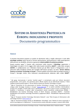 Documento programmatico