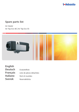 Spare parts list English Deutsch Italiano Svensk