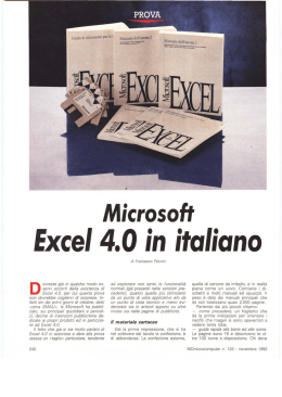 Excel 4.0 in italiano