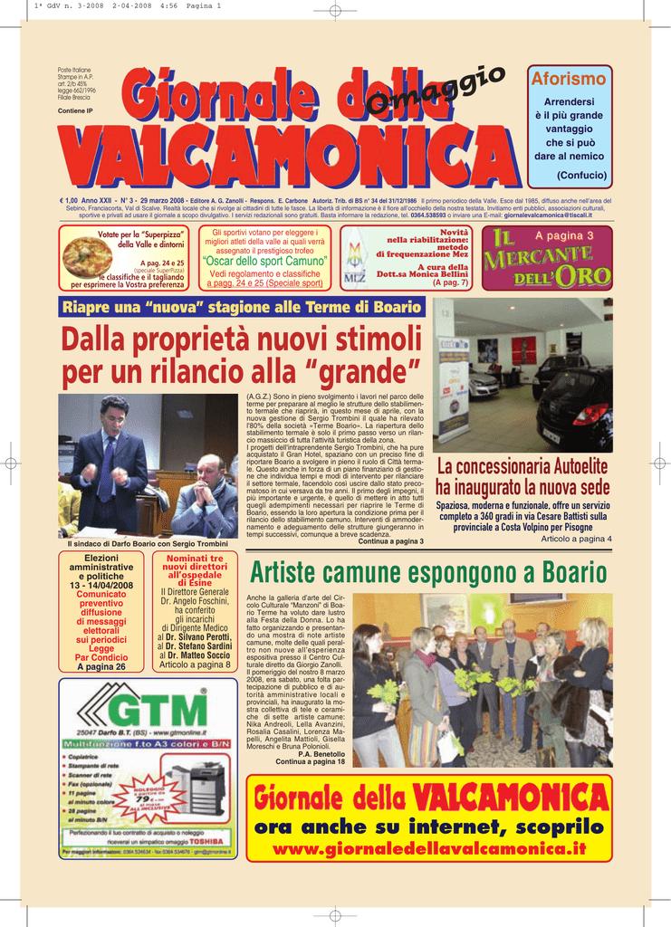 GdV n. 3 del 2008 giornale valcamonica