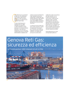 Genova Reti Gas: sicurezza ed efficienza