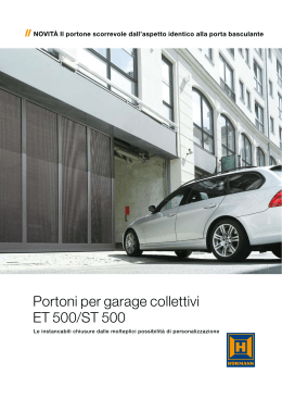 Portoni per garage collettivi ET 500/ST 500