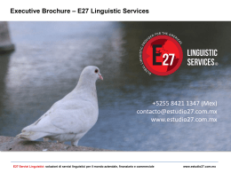Executive Brochure – E27 Linguistic Services