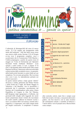 In … cammino n.17 s - CAI