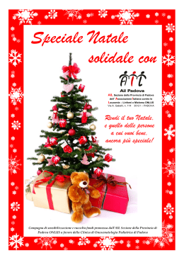 Speciale Natale solidale con