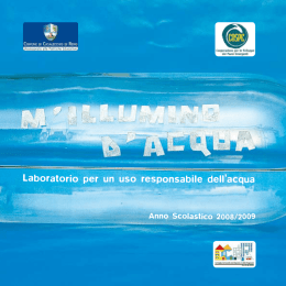 Laboratorio per un uso responsabile dell`acqua