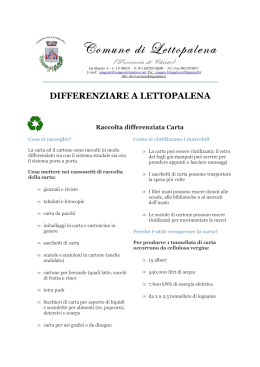 DIFFERENZIARE A LETTOPALENA