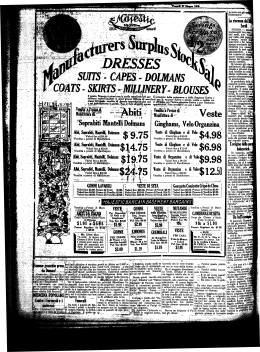 Ginghams, Velo Organzina - NYS Historic Newspapers