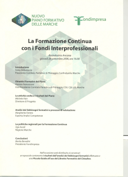con i Fondi Interprofessionali