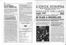 l`unita` europea - Historical Archives of the European Union Database