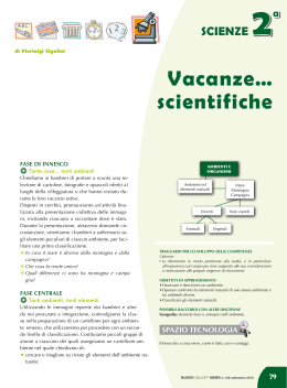 Vacanze… scientifiche