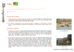 Togo OWI - Operation World Italia