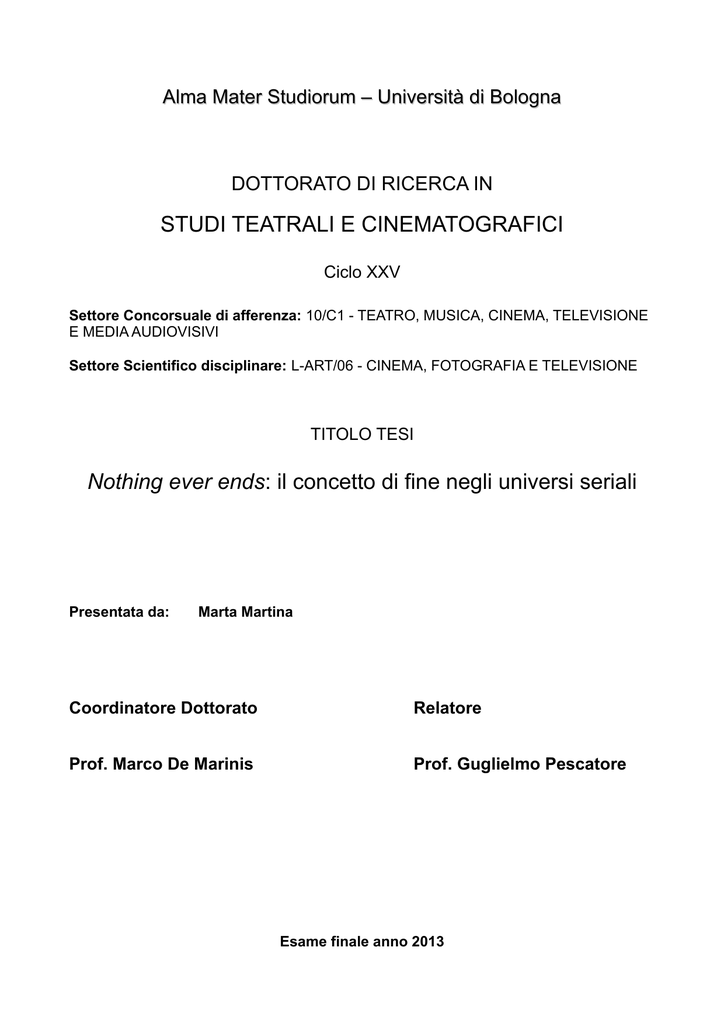Tesi Dottorato Pdf Di Documento Ams VqUpSzM