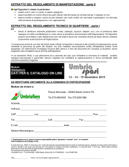 dati per il catalogo on line